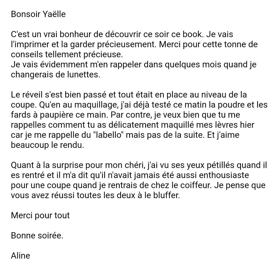 Avis - Témoignage Yaëlle M
