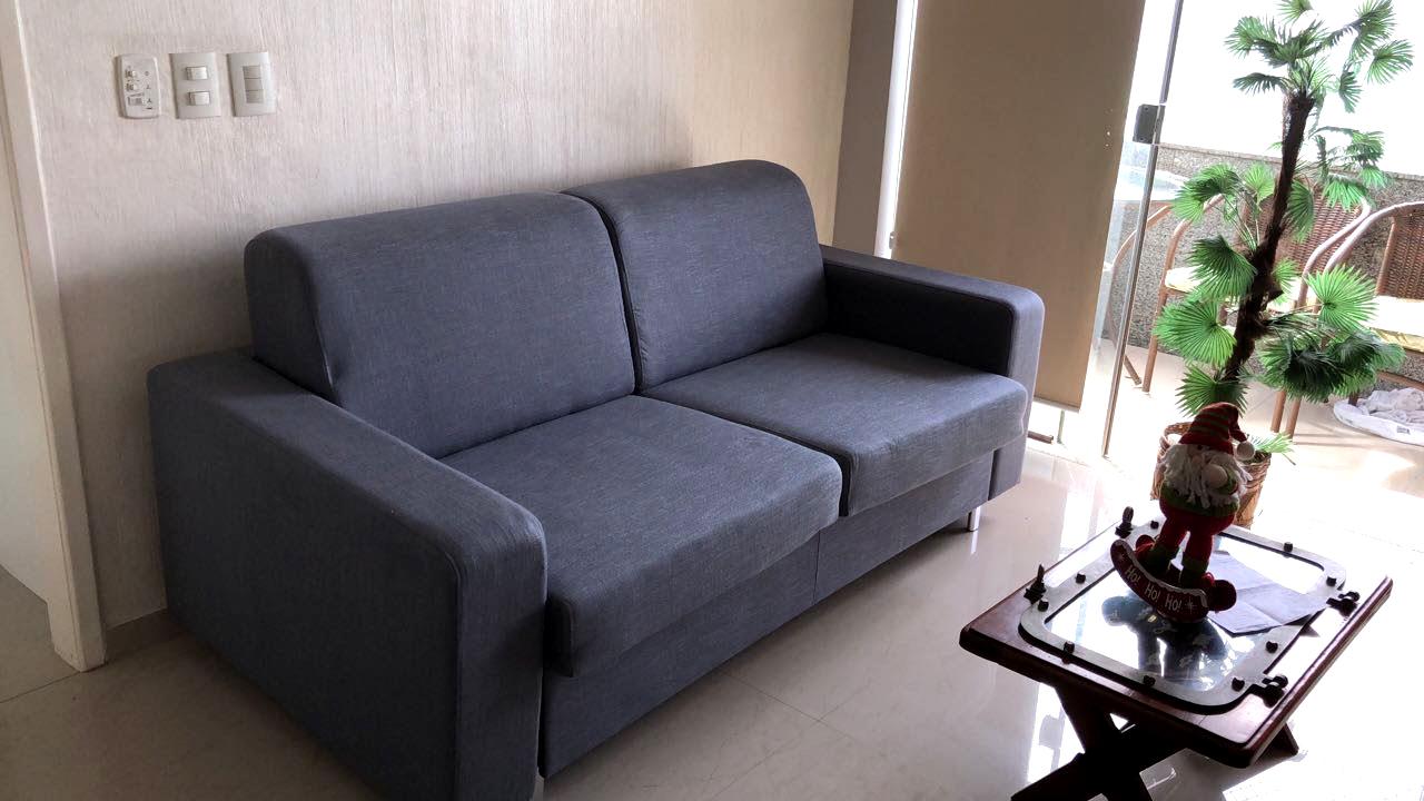 Sofá-cama Modelo Isabela Azul