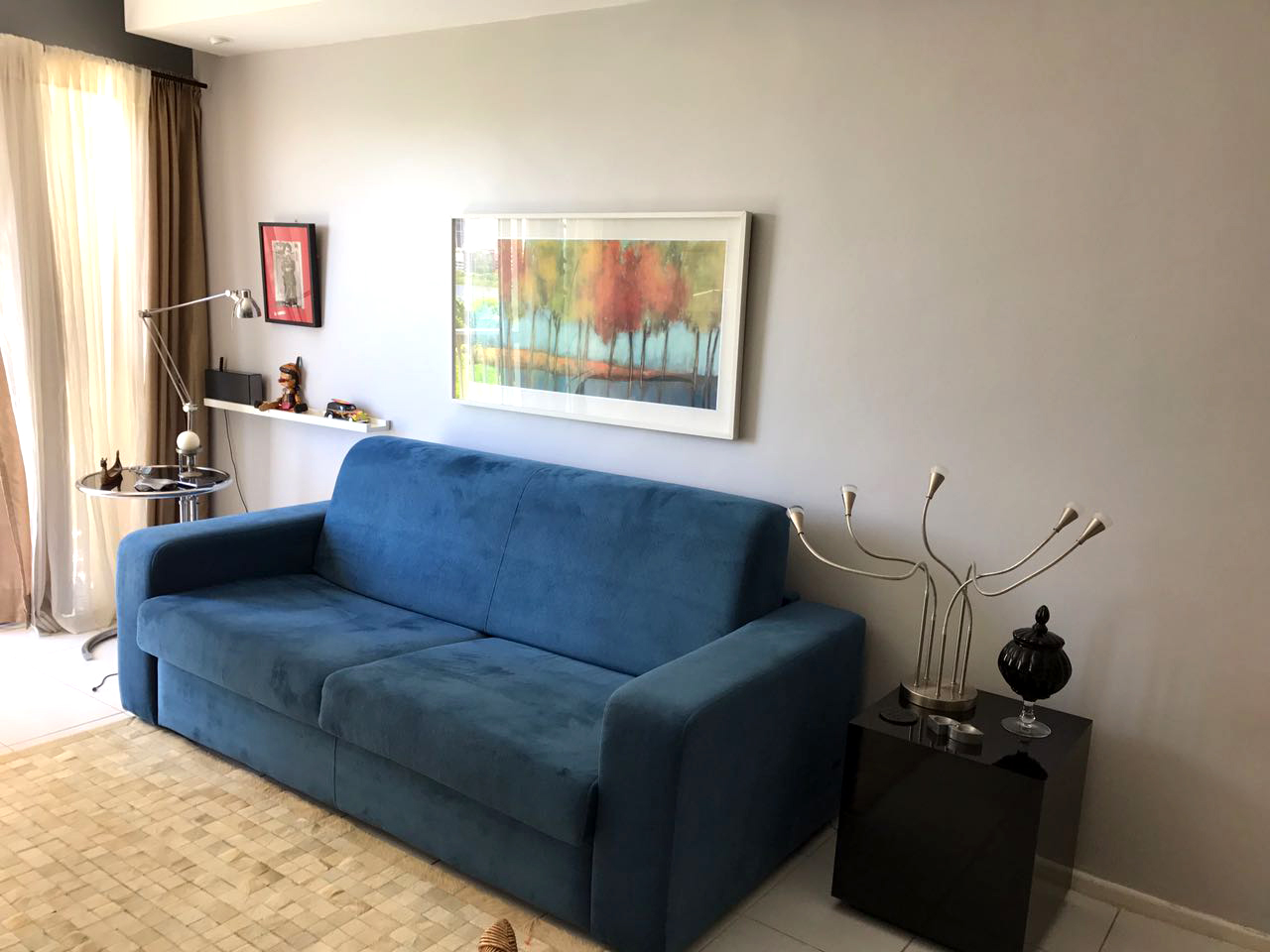 Sofá-cama Modelo Bianca Azul