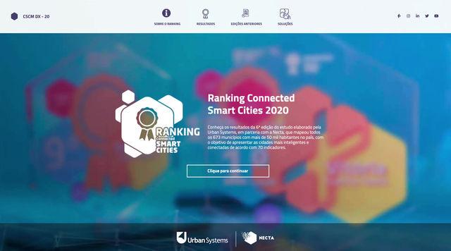 Plataforma Digital do Ranking Connected Smart Cities 2020