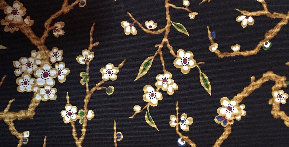 Black Floral - Cherry Blossoms