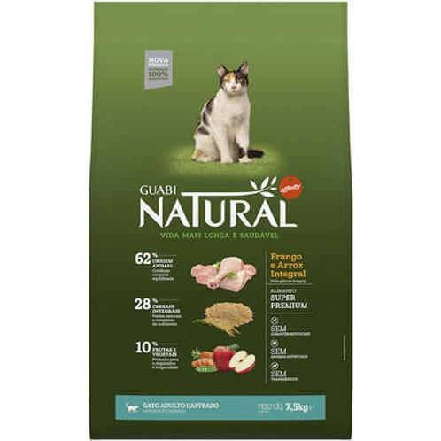 Guabi Natural Frango e Arroz Integral para Gato Adulto Castrado