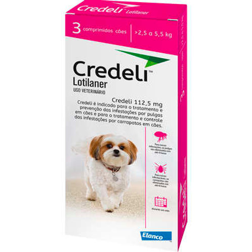 Antipulgas e Carrapatos Elanco Credeli para Cães 112,5 mg