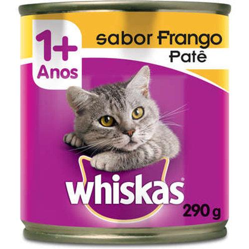 Whiskas Lata Patê de Frango para Gatos Adultos - 290 g