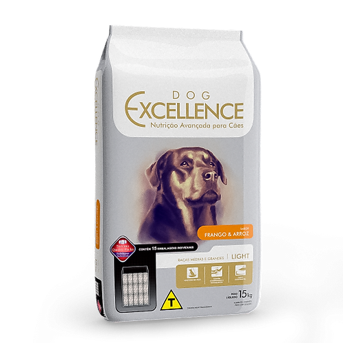 Dog Excellence Raças Médias e Grandes Light Frango e Arroz