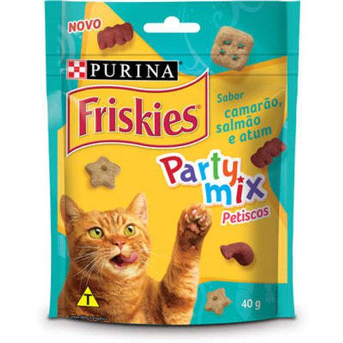 Petisco Nestlé Purina Friskies Party Mix Camarão, Salmão e Atum para Gatos Adult