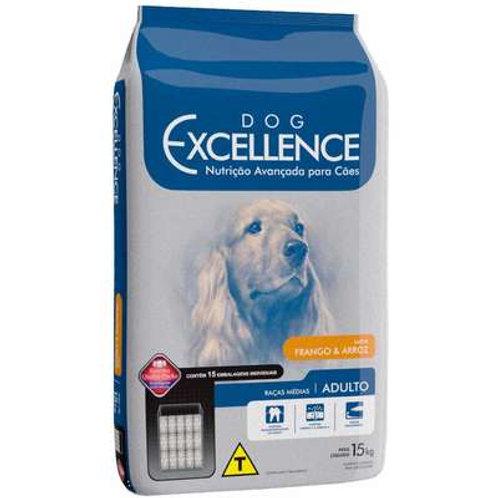 Dog Excellence Cães Adultos Raças Médias Frango e Arroz