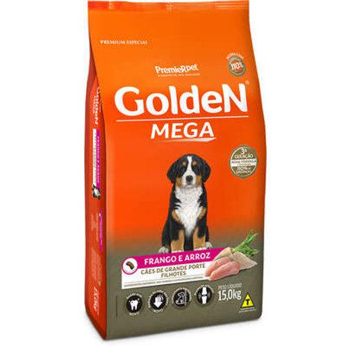 Ração Premier Golden Mega Cães Filhotes Raças Grandes Frango e Arroz