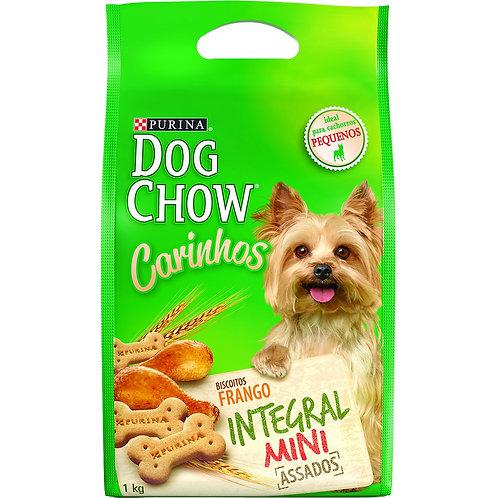 Biscoito Dog Chow Carinhos Integral Mini para Cães de Raças Peque. Sabor Frango