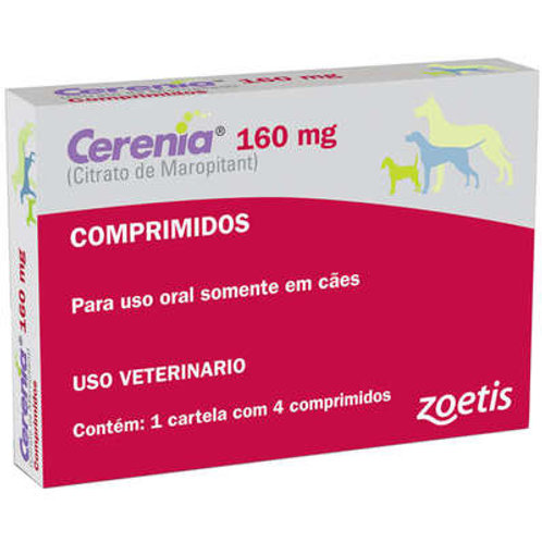 Antiemético Zoetis Cerenia de 4 Comprimidos 160 mg