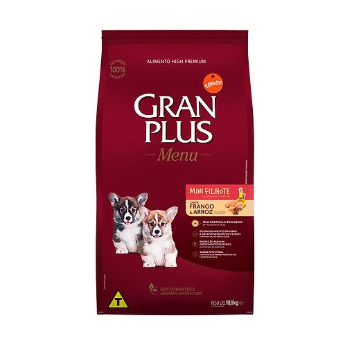 Gran Plus para Cães Filhotes Raças Mini sabor Frango e Arroz