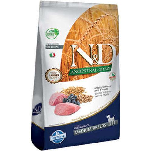 N&D Ancestral Grain Cordeiro Cães Adultos Raças Médias 10,1kg