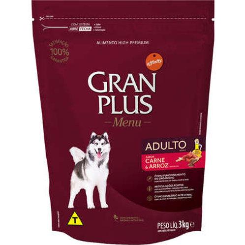 Ração GranPlus para Cães Adultos Sabor Carne e Arroz