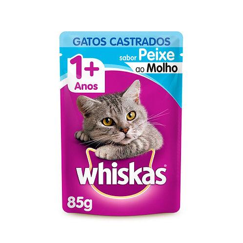 Ração Úmida Whiskas Para Gatos Castrados Sachê Sabor Peixe - 85g