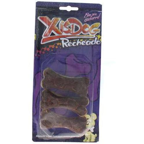 Osso XisDog Flat Bone Recheado - 3 Unidades