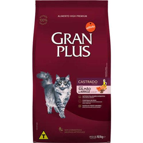 GranPlus Salmão e Arroz para Gatos Castrados Adultos 10KG