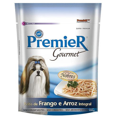 Ração Úmida Premier Gourmet Para Cães sabor Peito de Frango e Arroz integral 100