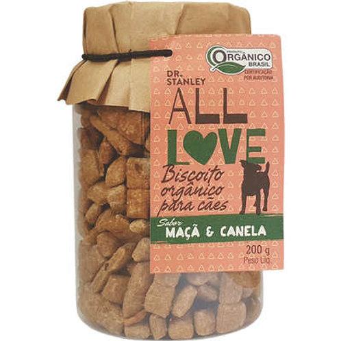 Biscoito Orgânico All Love Maça & Canela para Cães