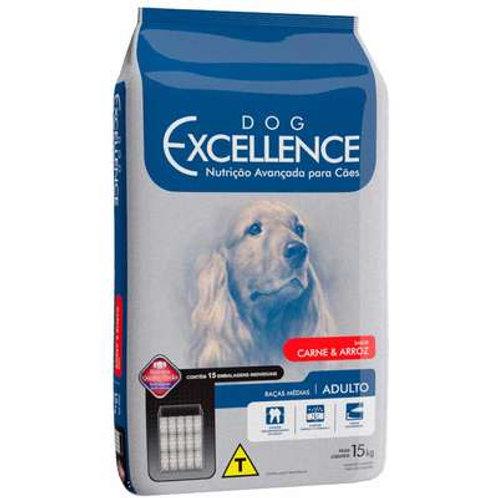 Dog Excellence Cães Adultos Raças Médias Carne e Arroz