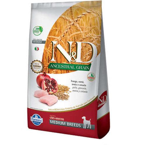 N&D Ancestral Grain Frango Cães Adultos Raças Média