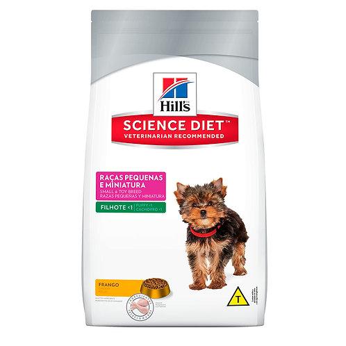 Hills Raças Pequenas e Miniatura Science Diet Para Cães Filhotes Até 12 Meses