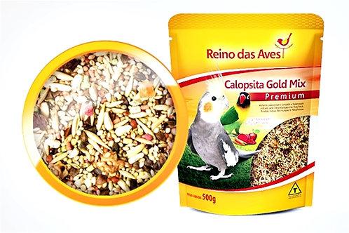 Alimento para Calopsita Gold Mix 500g - REINO DAS AVES