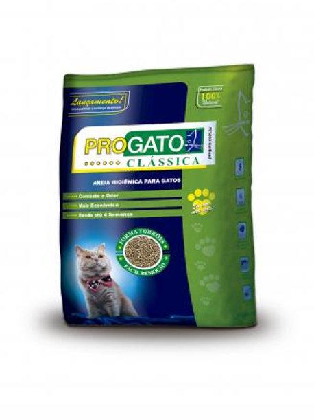 Granulado Higiênico Progato Clássica Grãos Médios para Gatos 4 Kg