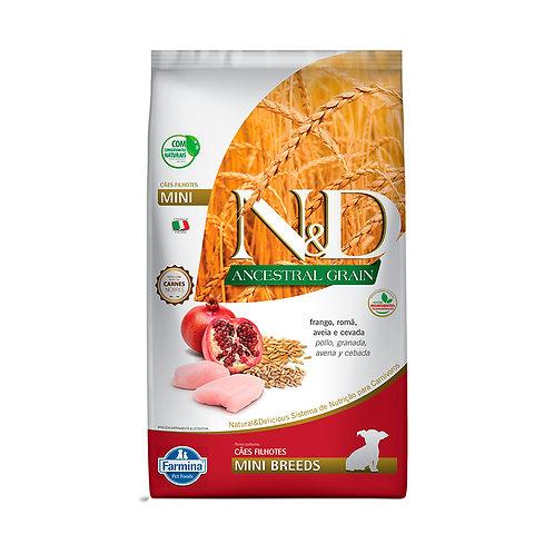N&D Ancestral Grain para Cães Filhotes de Raças Pequenas Sabor Frango e Romã