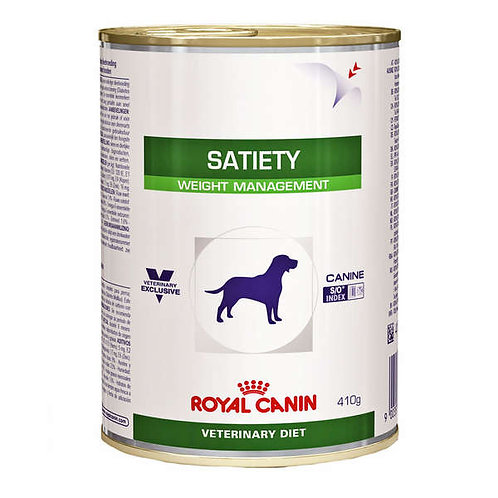 Ração Royal Canin Lata Canine Veterinary Diet Satiety Support Wet para Cães Adul