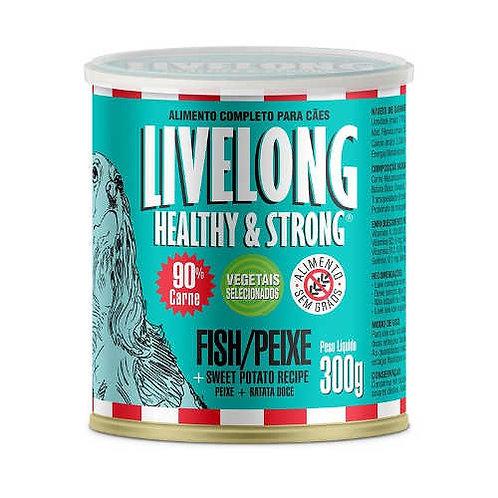 Livelong Cães – Peixe com Batata Doce – Lata 300gr