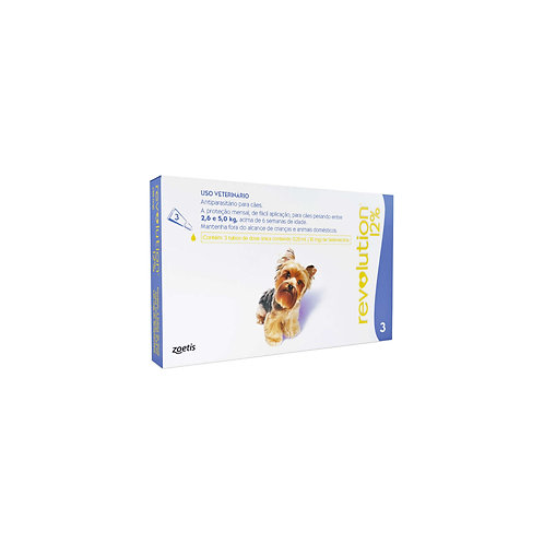 Antipulgas Revolution 12% 30mg Cães 2,6 a 5kg