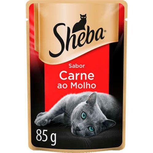 Ração Úmida Sheba Sachê Cortes Selecionados Sabor Carne ao Molho para Gatos Adul