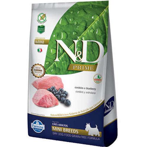 N&D Prime Cordeiro e Blueberry Cães Adultos Raças Pequenas