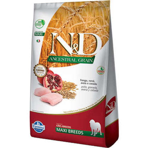 N&D Ancestral Grain Frango Cães Adultos Raças Grandes