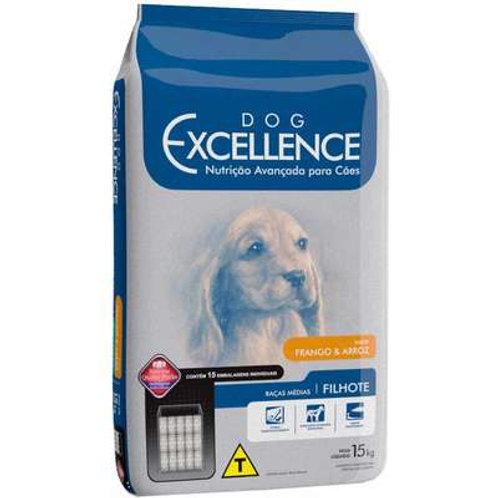 Dog Excellence Cães Filhotes Raças Médias Frango e Arroz