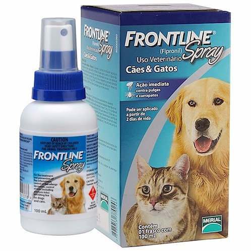 Antipulgas e Carrapatos Frontline Spray para Cães e Gatos
