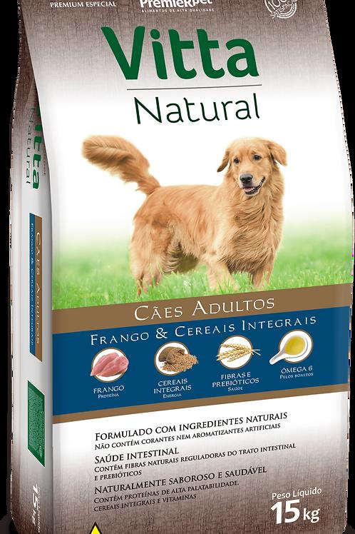 VITTA NATURAL FRANGO & CEREAIS INTEGRAIS – ADULTO 15kg