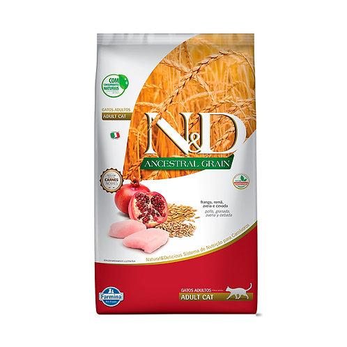 Ração Farmina N&D Ancestral Grain para Gatos Adultos Sabor Frango e Romã