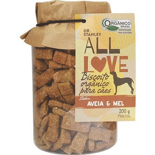 Biscoito Orgânico All Love Aveia & Mel para Cães