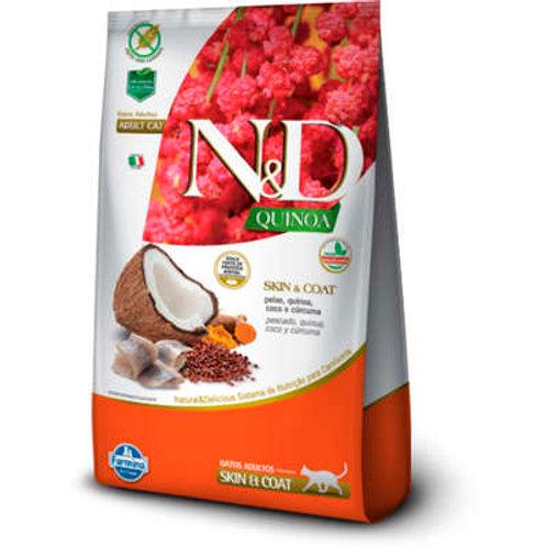 N&D Quinoa Skin & Coat Peixe para Gatos Adultos