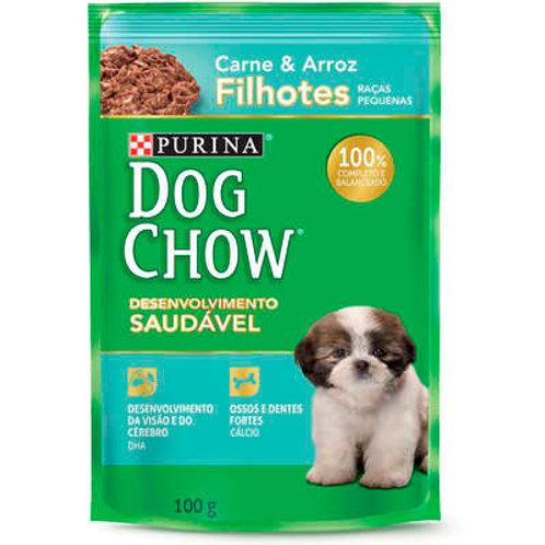 Ração Úmida Nestlé Purina Dog Chow Carne e Arroz para Cães Filhotes Raças Pequen
