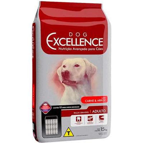 Dog Excellence Cães Adultos Raças Grandes Carne e Arroz - 15 Kg