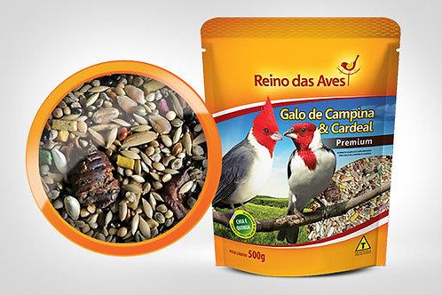 GALO DE CAMPINA E CARDEAL PREMIUM REINO DAS AVES  |   PESO::  500g