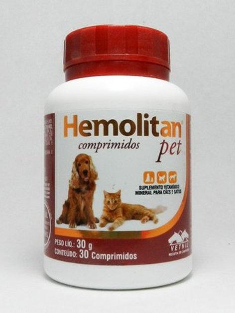 Hemolitan Pet 30 Comprimidos Vetnil