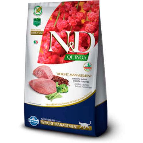 N&D Quinoa Weight Management Cordeiro para Gatos Adultos