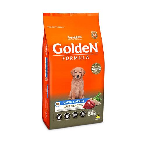 Ração Golden Premier Filhote para Cães Sabor Carne e Arroz