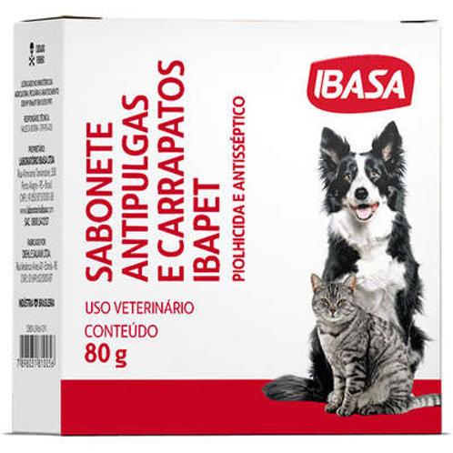 Sabonete Ibasa Antipulgas Ibapet para Cães e Gatos - 80 g