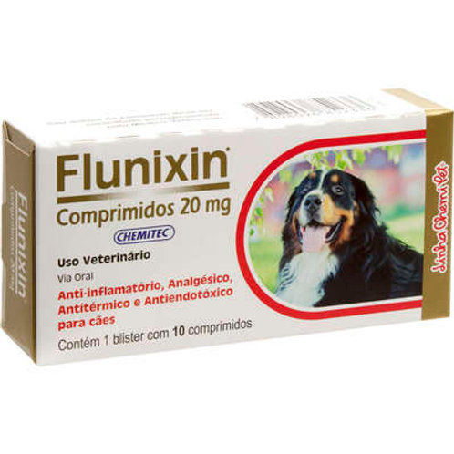 Anti-Inflamatório Chemitec Flunixin 20 mg Comprimidos para Cães