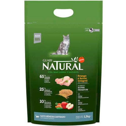 Guabi Natural Frango e Arroz Integral  para Gato Senior Castrado