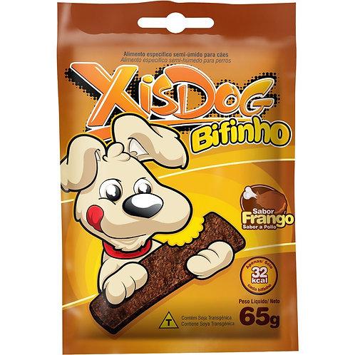 Petisco XisDog Bifinho para Cães Adultos e Filhotes Sabor Frango - 65g